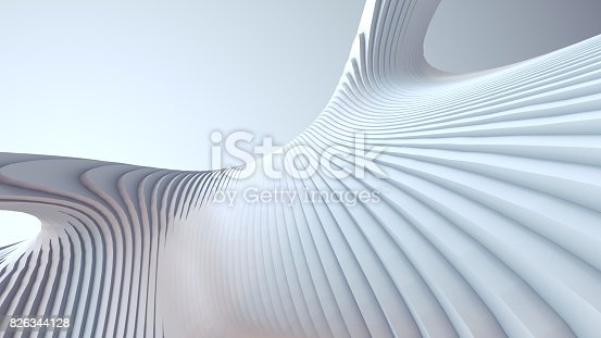 istock White stripe pattern futuristic background. 3d render illustration 826344128