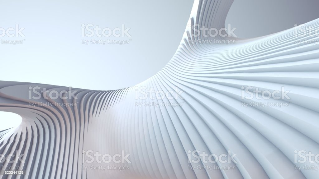 Bande blanche de fond futuriste. illustration de rendu 3D - Photo