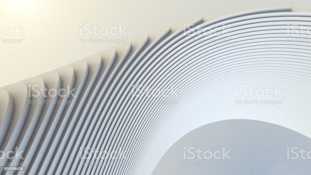 Witte streep patroon futuristische achtergrond. 3D render illustratie foto