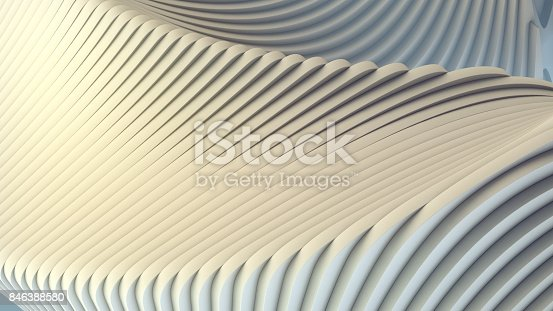 istock White stripe pattern futuristic background. 3d render illustration 846388580