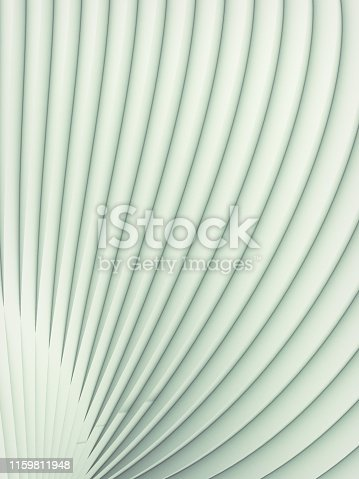 607742010 istock photo White striped futuristic pattern surrounded by light mist. Computer generated geometric shape. 3d render illustration 1159811948