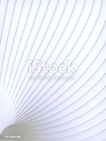 607742010 istock photo White striped futuristic pattern surrounded by light mist. Computer generated geometric shape. 3d render illustration 1161059196