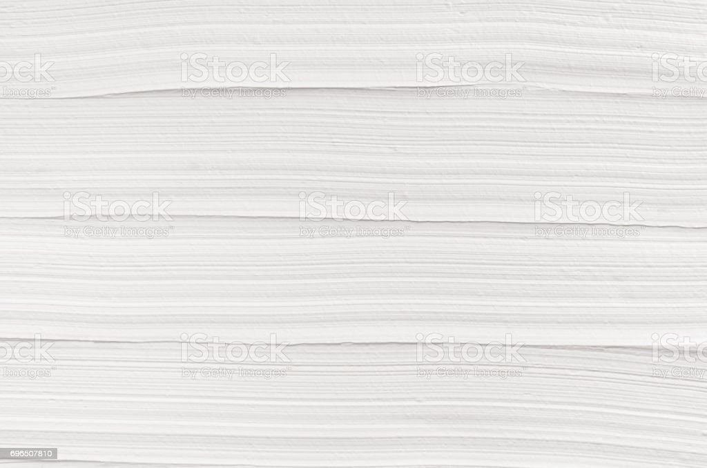 White striped plaster texture. Light modern abstract background. stock photo