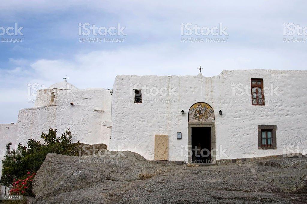 white stucco grotto  stock photo