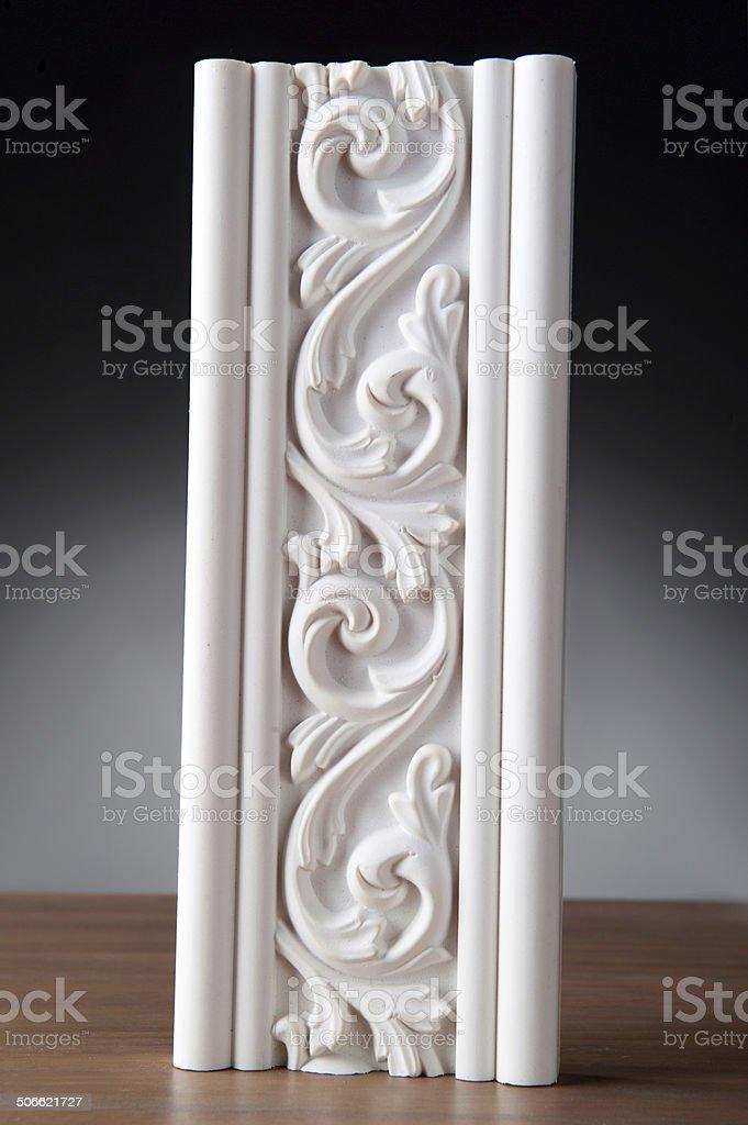 White Stucco modling stock photo