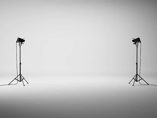 Blanc studio avec lumières - Photo
