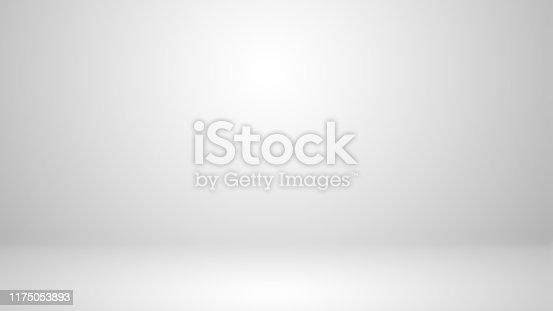 istock White studio with soft lighting on the wall and floor 1175053893