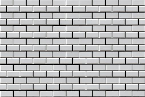White Subway Tile Background Stock Photo Download Image