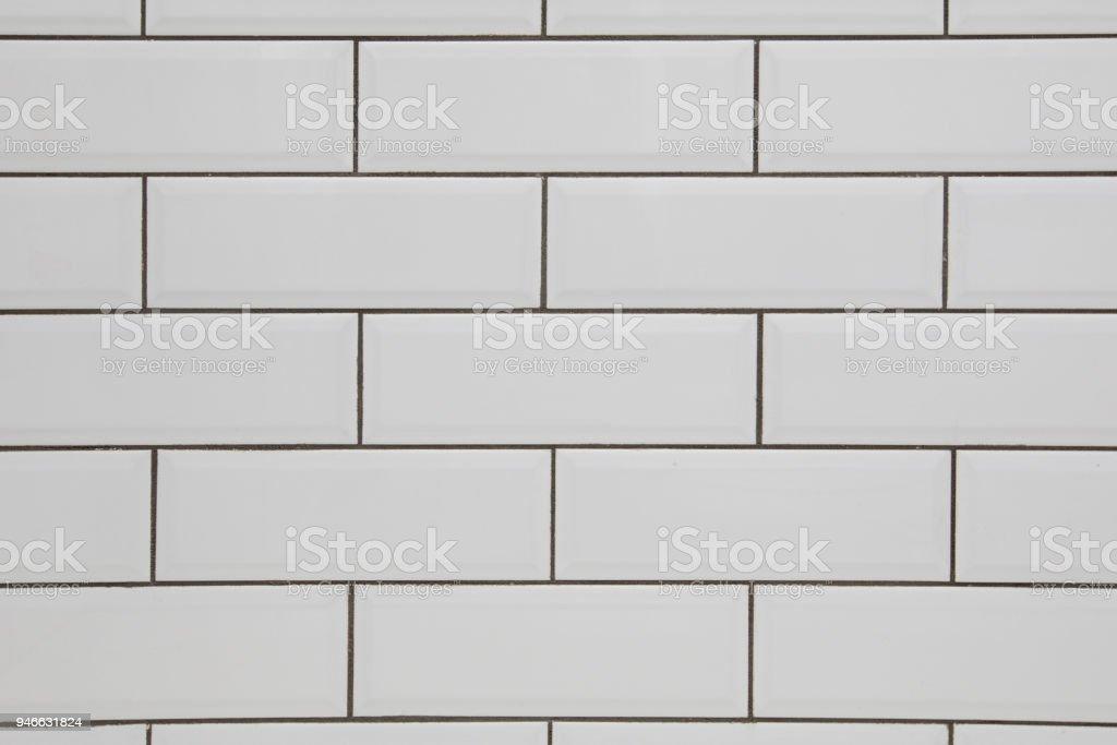 Azulejo branco metro - foto de acervo