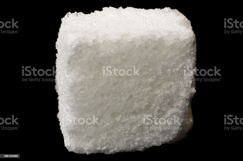White sugar cube stock photo