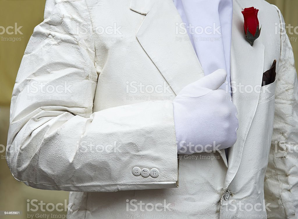 white suit royalty-free stock photo