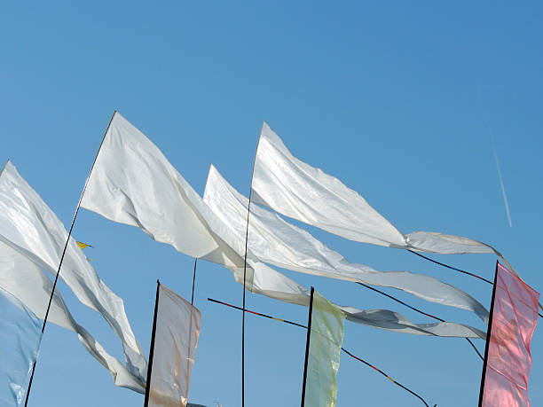 White Summer Flags – Foto