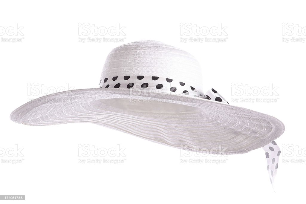 White Sun Hat stock photo