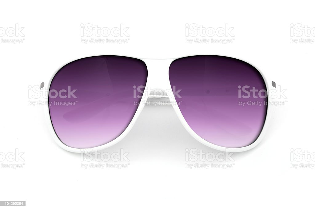 White sunglasses stock photo