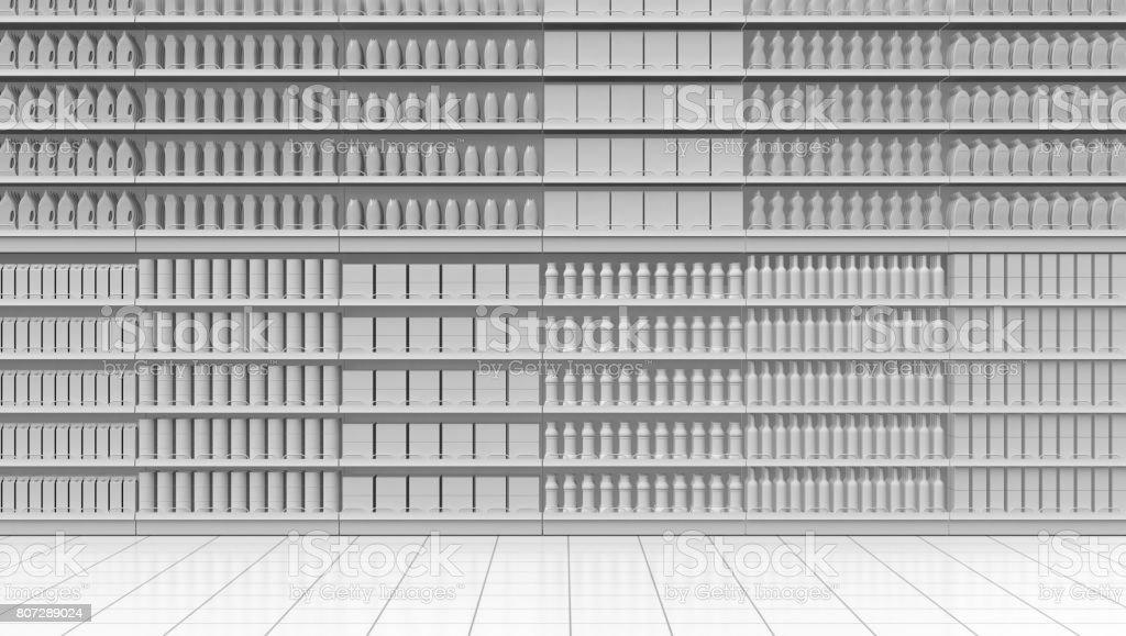 corridor de supermarché blanc photo libre de droits