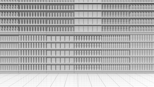 corridor de supermarché blanc - Photo