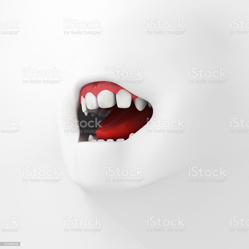 White Surface Mouth royalty-free stock photo