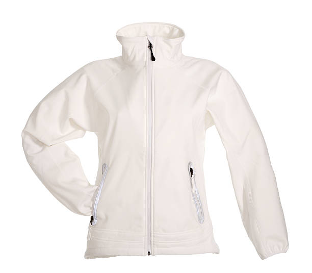 white sweatshirt - jacket stock photos and pictures