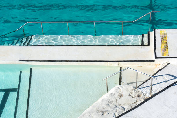 White swimming pool