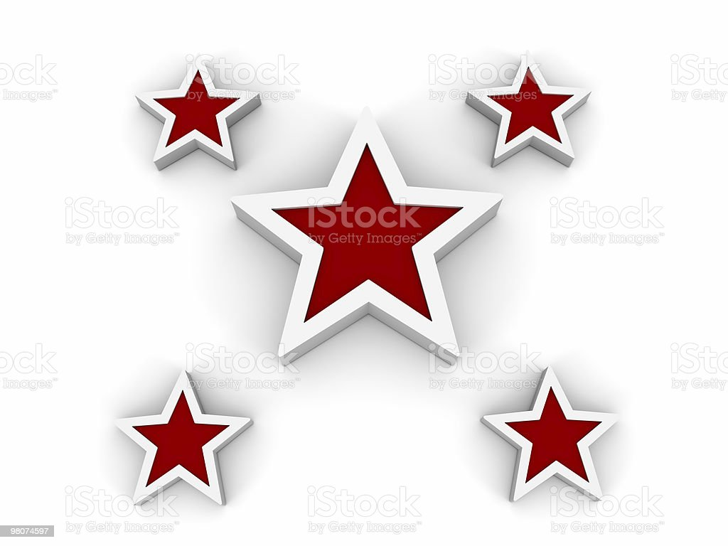 White Symbol: Stars royalty-free stock photo