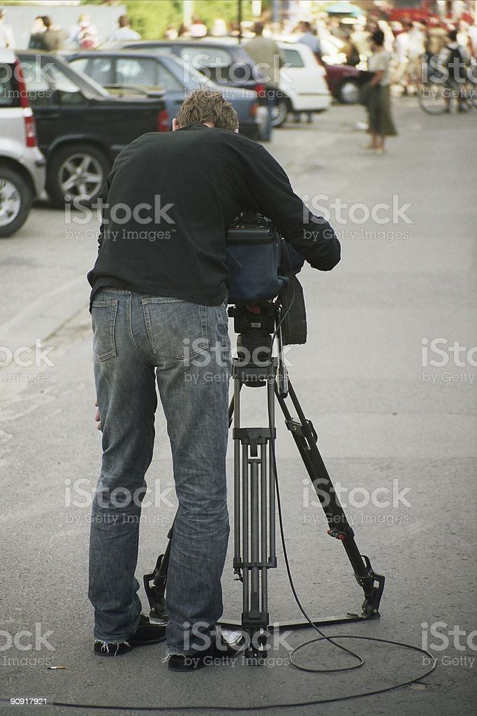 White   \t cameraman royalty-free stock photo