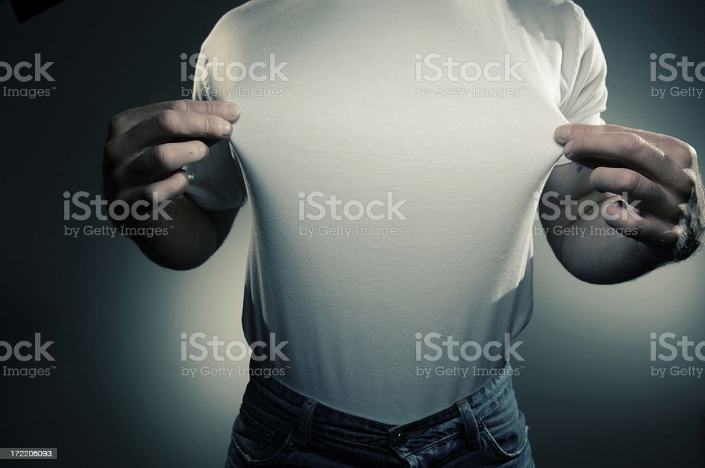 white t shirt series royalty-free stock photo