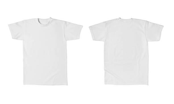 화이트 t 셔츠 템플릿 면 패션 - 등 뉴스 사진 이미지