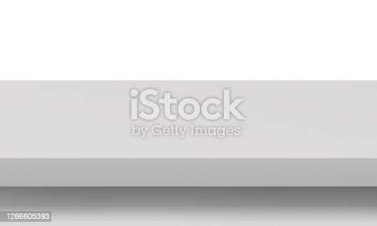 white, table, isolated on white background