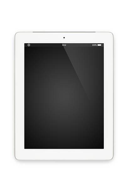 Tablette ordinateur blanc isolé. - Photo