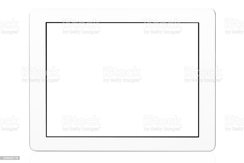 White Tablet Pc Isolated stock photo