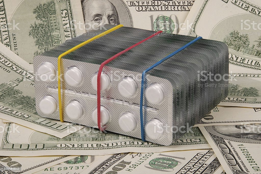 White tablets lay on a background royalty-free stock photo