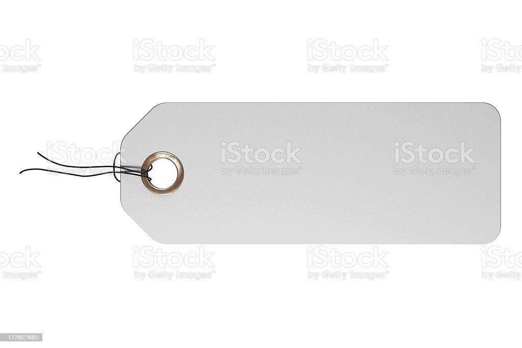 White tag royalty-free stock photo