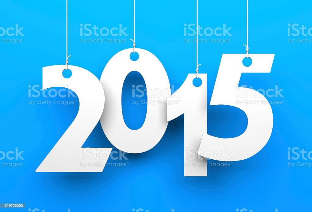 White tags with 2015 stock photo