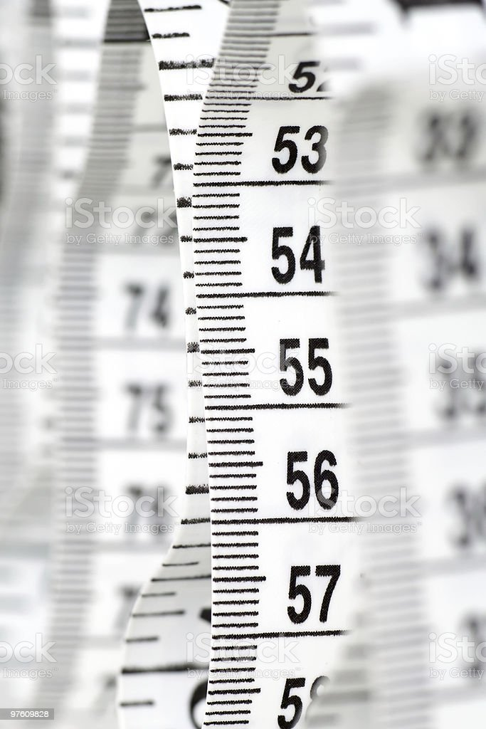 White Tailor Centimeter royalty-free stock photo