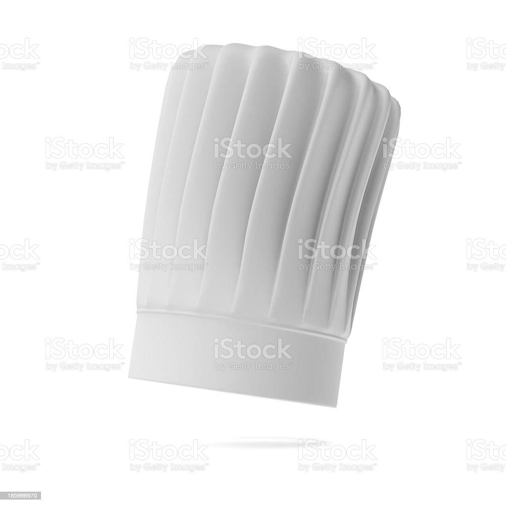 White tall chef hat stock photo