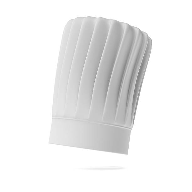 White tall chef hat White tall chef hat isolated on a white background chef's hat stock pictures, royalty-free photos & images