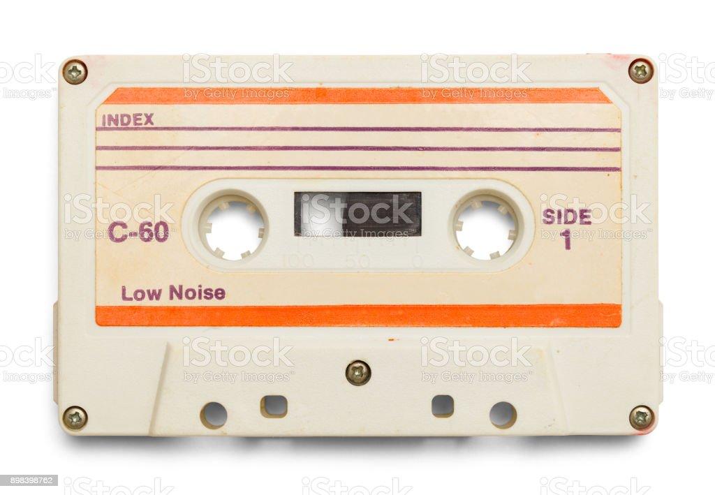 White Tape Cassette stock photo