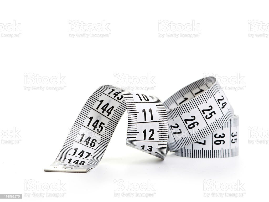 white tape measuring royalty-free stock photo