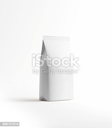 istock White Tea and Coffee Paper Package Isolated on White 696107616