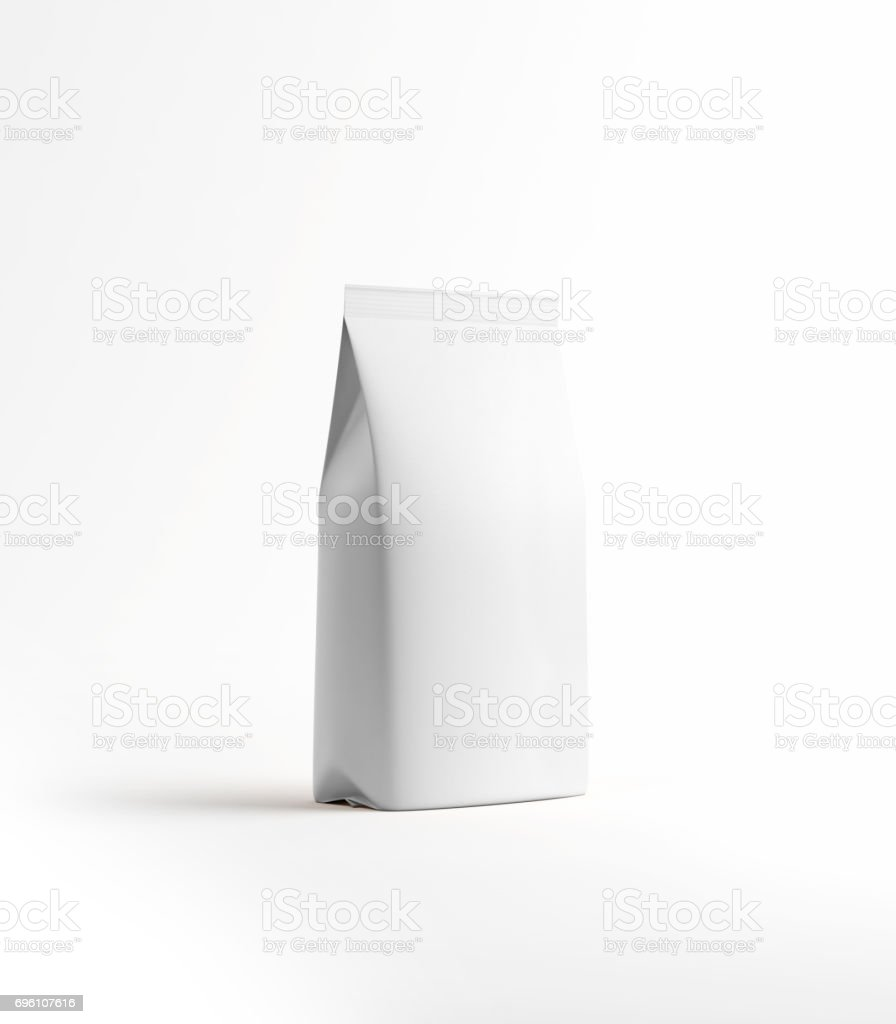 White Tea and Coffee Paper Package Isolated on White stock photo