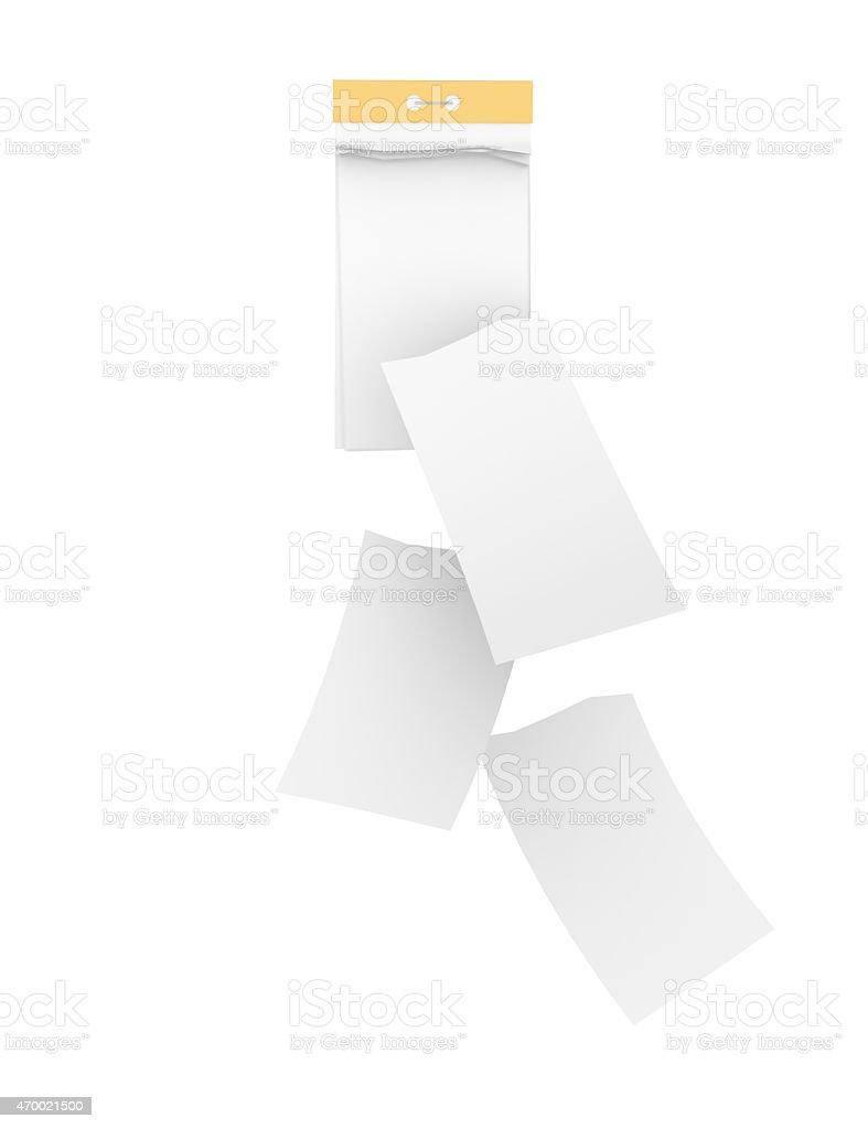 Calendario A Strappo.Bianco Calendario A Strappo Con Distacco Fogli Isolato Fotografie Stock E Altre Immagini Di 2015