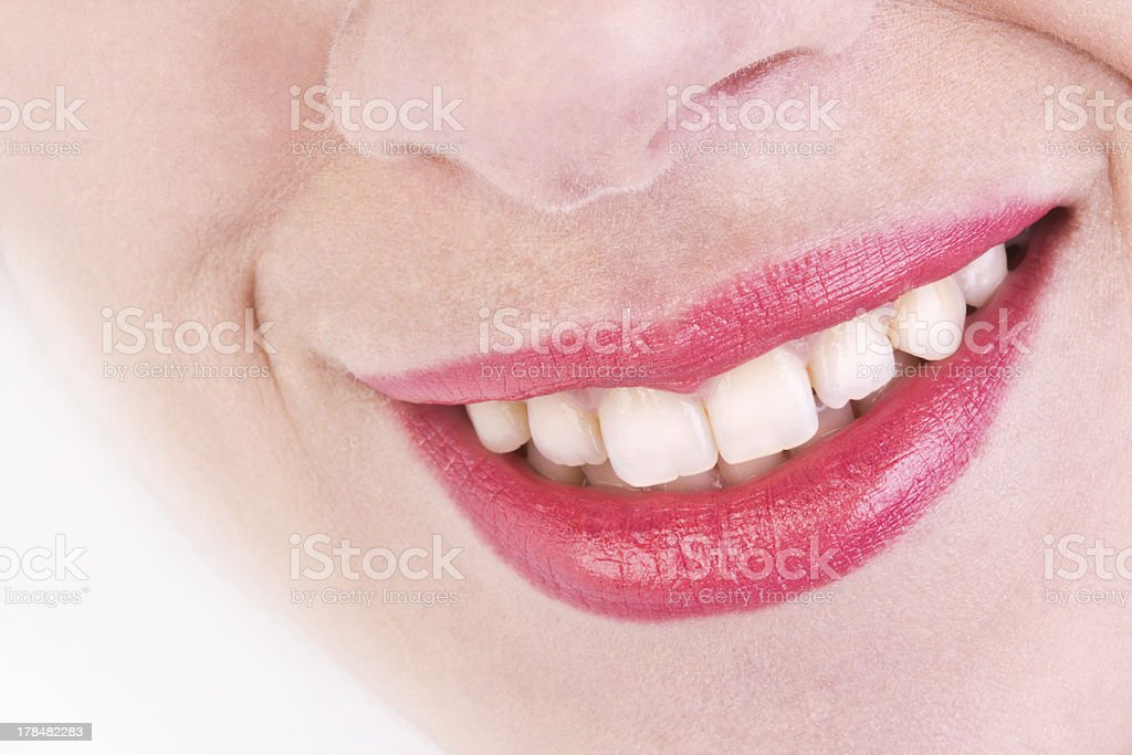 White teeth and a beautiful smile, close-up royalty-free stock photo