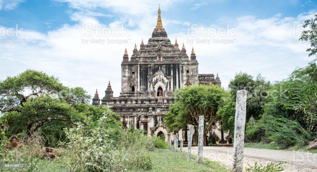 White Temple in Bagan Myanmar stock photo