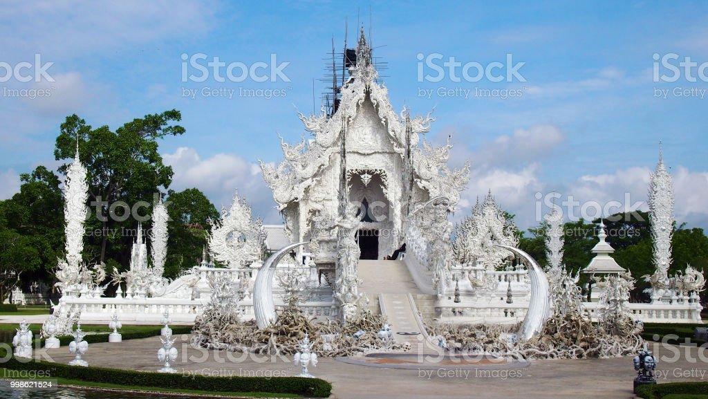 White Temple (Wat Rong Khun) near Chiang Rai, Thailand stock photo