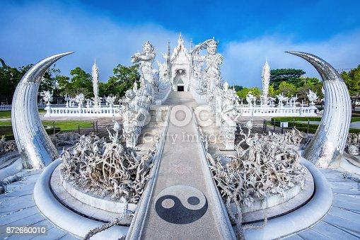 istock White Temple Wat Rong Khun in Chiang Rai, Thailand 872660010