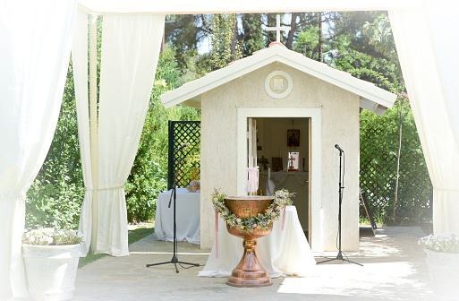 White Tent For Wedding Or Entertainment Events - お祝いのストックフォトや画像を多数ご用意