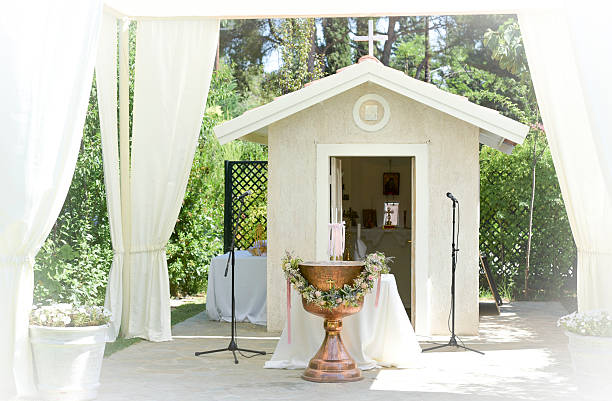 white tent  for wedding or entertainment events – Foto