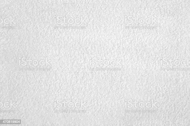 Closeup of cloth material terry towelling as used for towels, white, texture, material