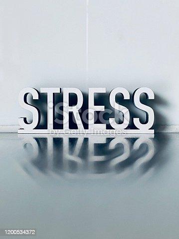 White text STRESS