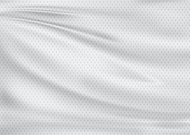 white textile sport background - textile stock photos and pictures